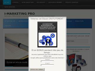 I Marketing Pro : Entrepreneuriat & Marketing Internet